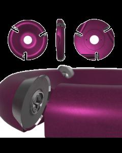 """Roto-Clip - 3 Slot Round Carbide Disc 4"""" Purple"""