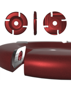 "Roto-Clip - 4 Slot Flat Carbide Disc 4"" Dark Burgundy"
