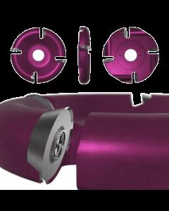 """Roto-Clip - 4 Slot Round Carbide Disc 4"""" Purple"""
