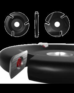 "Roto-Clip - 3 Slot Flat Carbide Disc 4"" Black"