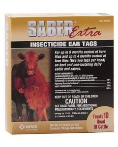 Ear Tag Saber Extra 20 Count