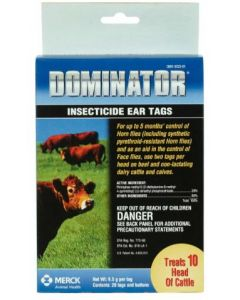 Ear Tag Domainator Inseticide 20 Count