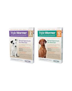 Triple Dog Wormer [Medium/Large] (2 Count)