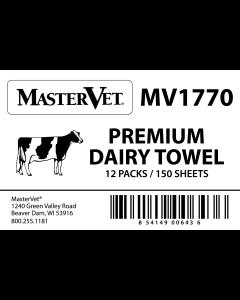 MasterVet White Towels (12/150 Count)