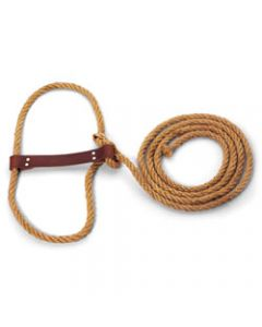 Halter - Sisal & Leather w/ Strap