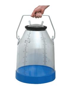 Milk Can Herd Test Bucket Clear