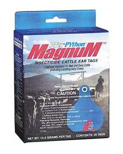 Python Magnum Insecticide Ear Tags [Blue] (20 Count)