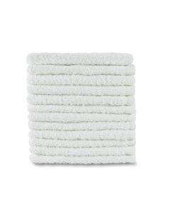 White Terry Washcloths 16OZ/DOZ 12X12 600 Count
