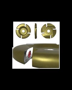 "Roto-Clip - 4 Slot Flat 4.5"" Carbide Disc Gold"